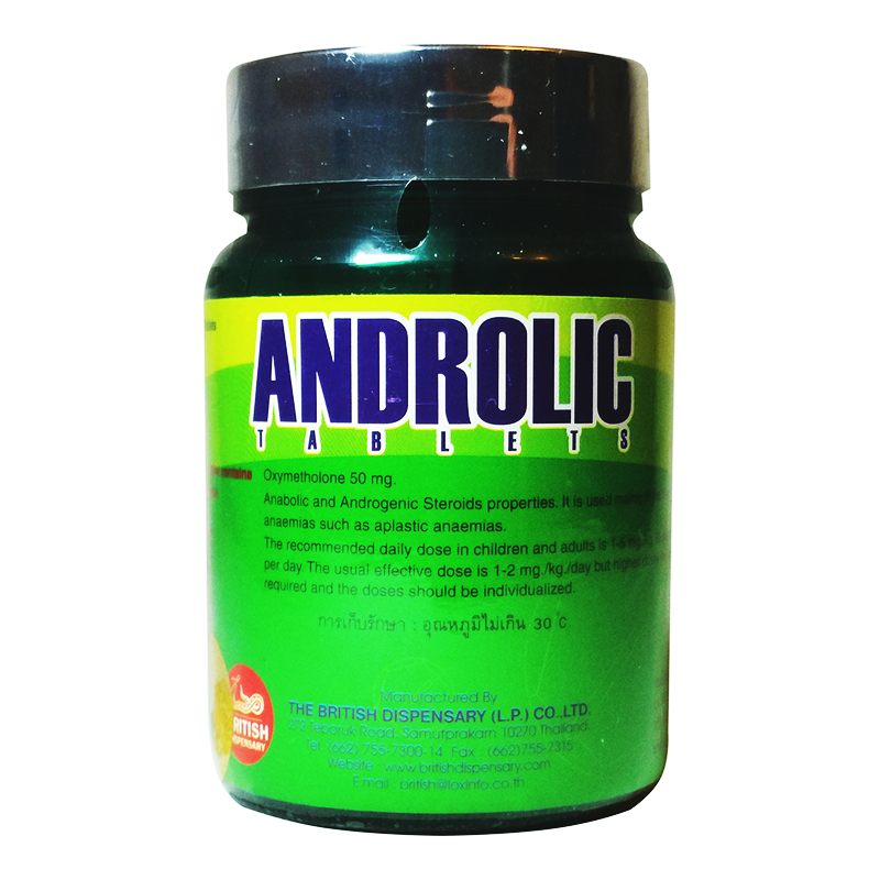 Anadrol Androlic (Oxymetholone) by British Dispensary